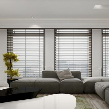 blinds installed in a room