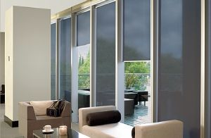 windows with sliding shades